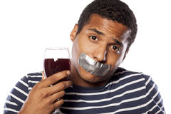 Ποτό Forbiden στοκ εικόνες με δικαίωμα ελεύθερης χρήσης
