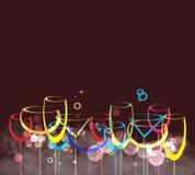 Ποτό glass1 αλκοόλης ανασκόπησης καρτών κρασιού Στοκ Εικόνες