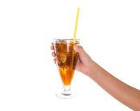 Ποτό IV εκμετάλλευσης χεριών έφηβη Στοκ Εικόνες