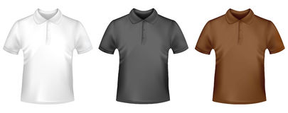 πουκάμισα τρία πόλο ατόμων διανυσματική απεικόνιση