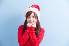 Πουκάμισο ένδυσης γυναικών ομορφιάς Χριστουγέννων στοκ εικόνα με δικαίωμα ελεύθερης χρήσης