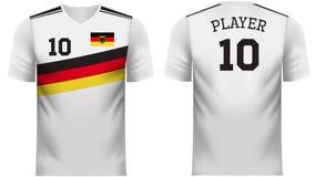 Πουκάμισο αθλητικών γραμμάτων Τ ανεμιστήρων της Γερμανίας στα γενικά χρώματα χωρών διανυσματική απεικόνιση