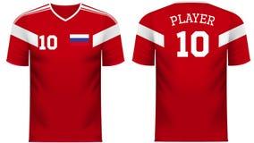 Πουκάμισο αθλητικών γραμμάτων Τ ανεμιστήρων της Ρωσίας στα γενικά χρώματα χωρών ελεύθερη απεικόνιση δικαιώματος