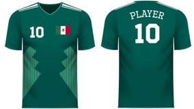 Πουκάμισο αθλητικών γραμμάτων Τ ανεμιστήρων του Μεξικού στα γενικά χρώματα χωρών ελεύθερη απεικόνιση δικαιώματος