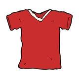 πουκάμισο γραμμάτων Τ κινούμενων σχεδίων Στοκ Εικόνες