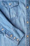 Πουκάμισο τζιν παντελόνι Στοκ Φωτογραφίες