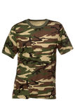 πουκάμισο τ carmouflage στοκ εικόνα