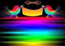 πουλί ανασκόπησης διακ&omicron Στοκ εικόνες με δικαίωμα ελεύθερης χρήσης
