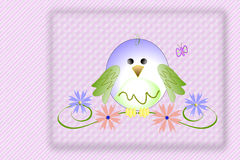 πουλί μωρών χαριτωμένο Στοκ Εικόνες