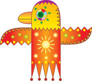 πουλί που σύρει ηλιακός sy απεικόνιση αποθεμάτων