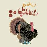 Πουλί της Τουρκίας για την ημέρα των ευχαριστιών Στοκ φωτογραφία με δικαίωμα ελεύθερης χρήσης