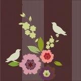 πουλιά ανασκόπησης floral απεικόνιση αποθεμάτων