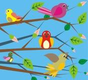 πουλιά που τραγουδούν τ Στοκ εικόνα με δικαίωμα ελεύθερης χρήσης