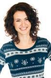 πουλόβερ κοριτσιών Χρισ&tau Στοκ εικόνα με δικαίωμα ελεύθερης χρήσης
