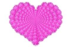 πουπουλένια καρδιά Στοκ Εικόνες