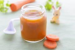 πουρές καρότων μωρών στοκ φωτογραφία με δικαίωμα ελεύθερης χρήσης