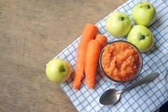 Πουρές με τη Apple και το καρότο Στοκ εικόνα με δικαίωμα ελεύθερης χρήσης
