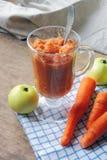 Πουρές με τη Apple και το καρότο Στοκ Εικόνα