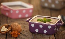 Πουτίγκα σοκολάτας, αναδρομικός που ορίζεται Στοκ Εικόνα