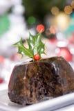 πουτίγκα Χριστουγέννων Στοκ Εικόνες