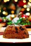 πουτίγκα Χριστουγέννων Στοκ Εικόνα