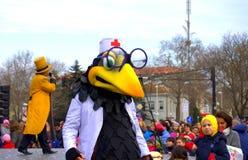 Πουλί γιατρών στο στάδιο της Βάρνας καρναβάλι Στοκ εικόνες με δικαίωμα ελεύθερης χρήσης