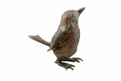 πουλί διακοσμήσεων πεπιεσμένου χαρτιού με ένα σχέδιο στοκ φωτογραφία με δικαίωμα ελεύθερης χρήσης