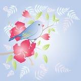Πουλί και λουλούδι Στοκ Φωτογραφίες