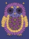 Πουλί κουκουβαγιών που γίνεται από τα φρέσκα θερινά λουλούδια Στοκ Εικόνα