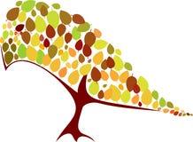 Πουλί με τα φύλλα Στοκ εικόνα με δικαίωμα ελεύθερης χρήσης