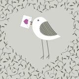 Πουλί με την επιστολή Στοκ Εικόνες