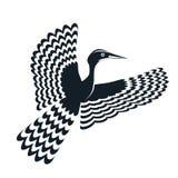 Πουλί λογότυπων γραπτό  ελεύθερη απεικόνιση δικαιώματος