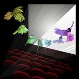 Πουλί ουράνιων τόξων στην κίνηση Χαμηλός-πολυ Στοκ φωτογραφία με δικαίωμα ελεύθερης χρήσης