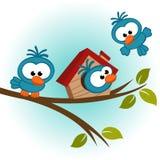 Πουλί στο δέντρο διανυσματική απεικόνιση