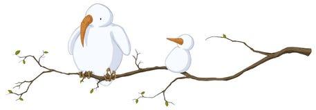 Πουλί χιονιού, που χρωματίζεται Στοκ φωτογραφία με δικαίωμα ελεύθερης χρήσης