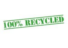 100 που ανακυκλώνονται Στοκ εικόνα με δικαίωμα ελεύθερης χρήσης