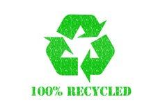 100 που ανακυκλώνονται Στοκ Φωτογραφία