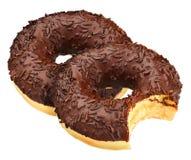 που απομονώνεται doughnut σοκ&omic Στοκ φωτογραφία με δικαίωμα ελεύθερης χρήσης