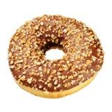 Που απομονώνεται doughnut φυστικιών Στοκ εικόνα με δικαίωμα ελεύθερης χρήσης