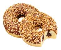 Που απομονώνεται doughnut φυστικιών Στοκ εικόνες με δικαίωμα ελεύθερης χρήσης