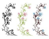 που απομονώνεται floral σχεδί& διανυσματική απεικόνιση