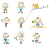 που απομονώνονται τα παιδιά παίζουν Στοκ φωτογραφία με δικαίωμα ελεύθερης χρήσης