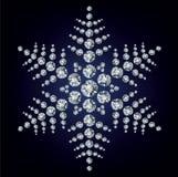 που γίνονται διαμάντια snowflake Στοκ φωτογραφία με δικαίωμα ελεύθερης χρήσης