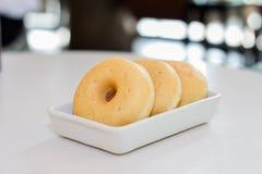 Που γεμίζουν doughnut ζάχαρης στοκ εικόνα