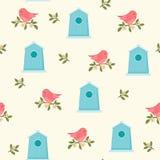 Πουλιά και birdhouses την άνοιξη/θερινός χρόνος Στοκ εικόνα με δικαίωμα ελεύθερης χρήσης
