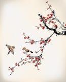 Πουλιά και χειμερινό γλυκό Στοκ Εικόνες
