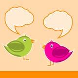 πουλιά χαριτωμένα δύο Στοκ εικόνα με δικαίωμα ελεύθερης χρήσης