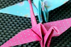 Πουλιά Origami Στοκ φωτογραφίες με δικαίωμα ελεύθερης χρήσης