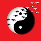 Πουλιά Yang Yin Στοκ Φωτογραφία