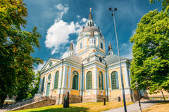 1990 που καίγεται εκκλησιών ίδιο αρχισμένο έναρξη Στοκχόλμη Σουηδία katarina αρχικό έτος επανοικοδόμησης Στοκ Φωτογραφίες